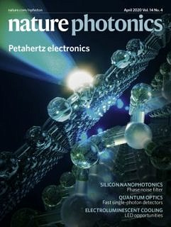 "Towards entry ""Cover image of the April issue of Nature Photonics"""