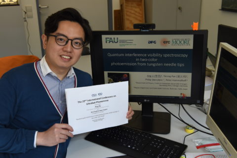 "Towards entry ""Best Student Paper Award to Ang Li at the 22th International Conference on Ultrafast Phenomena"""